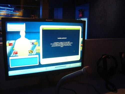 Écran d'ordinateur où nous avons fait notre montage