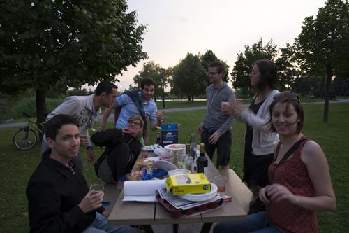 Début de soirée au Parc Jarry