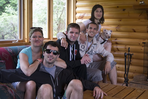 L'équipe au complet. De gauche à droite : Solveig, Rudy, Hugo, Alex et Marion
