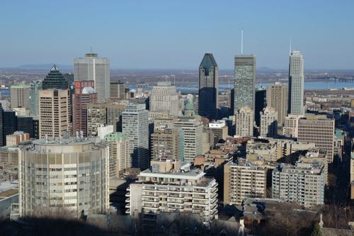 Montréal vu du belvédère