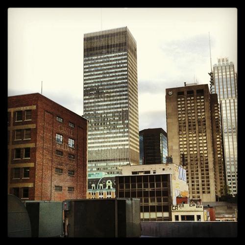 La vue de Montréal dans le bâtiment du YMCA