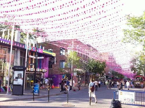 La rue Saint Catherine de Montréal
