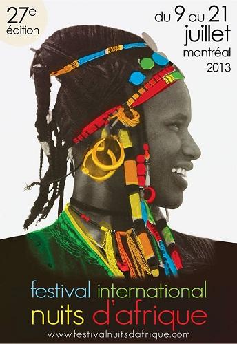 Affiche du Festival Nuits d'Afrique - 2013
