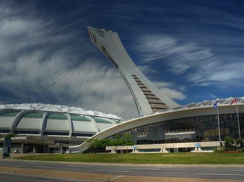 Le stade olympique et le biodôme