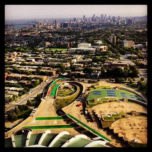 La vue de la tour olympique