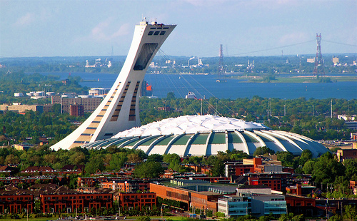 Le stade olympique dans le quartier de Hochelaga-Maisonneuve