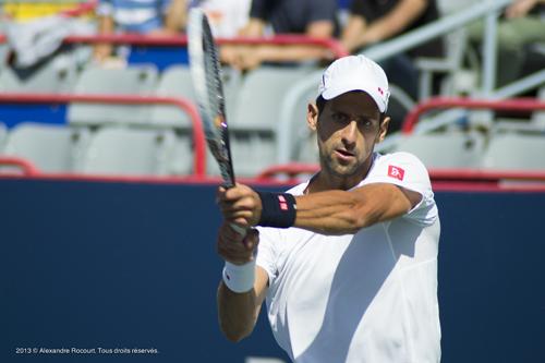 Djokovic en action 2013 © Alexandre R. Tous droits réservés.