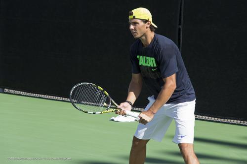 Rafael Nadal à l'entrainement. 2013 © Alexandre R. Tous droits réservés.