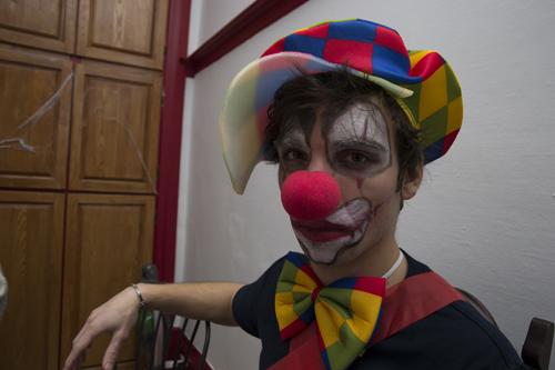 Le clown n'est pas commode