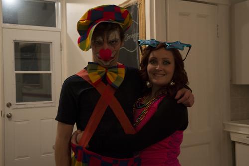 Martin le clown et sa poupée