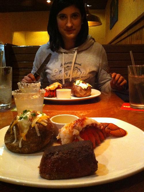 Repas à New York avec des Lobster