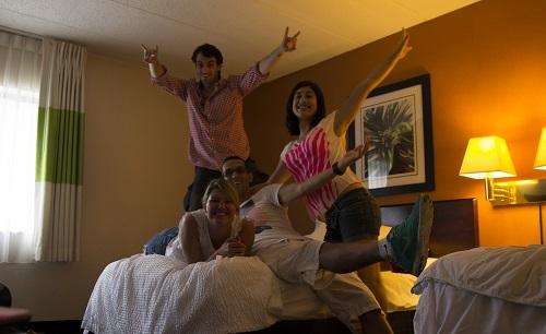 L'équipe à l'hôtel