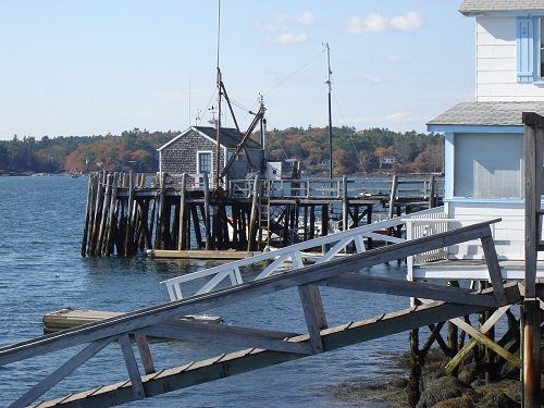 Maisonnette sur le port