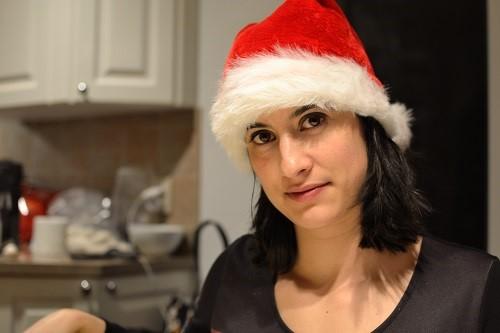 Marion au repas de Noël