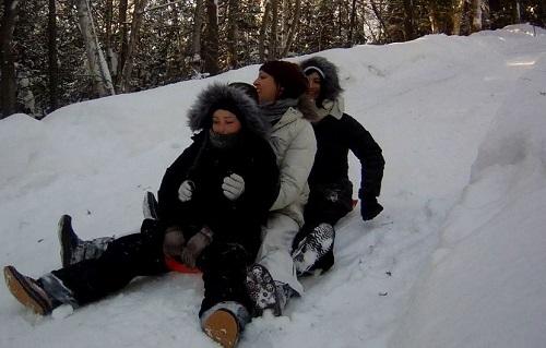 Brochette sur neige