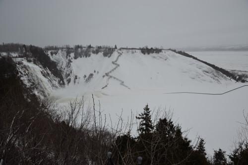 Vue des chutes de Montmorency