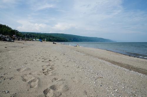 La plage de Saint-Irénée