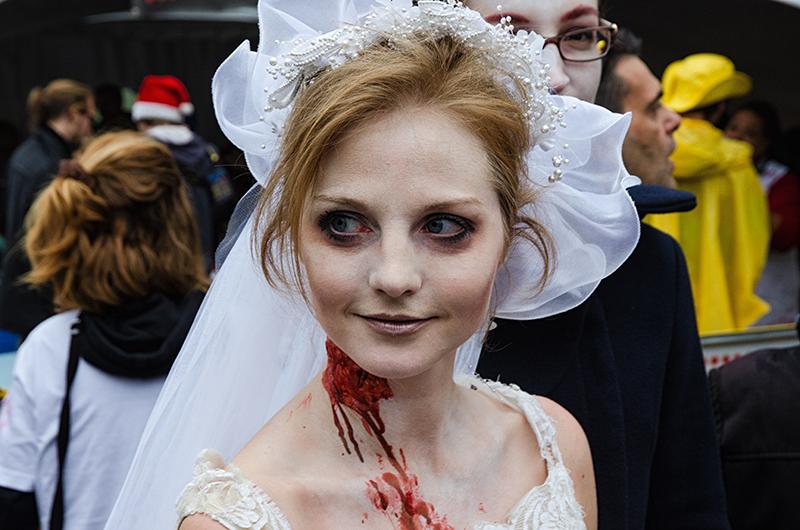 La mariée de la marche des zombies 2014 à Montréal