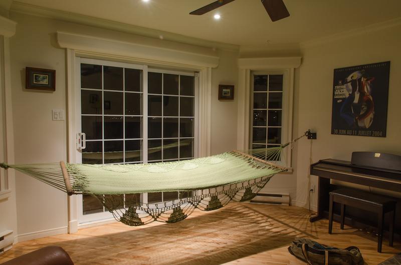 Le hamac, idéal pour se reposer