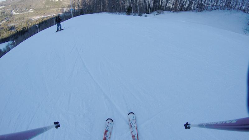 Alex aux anges sur ses skis