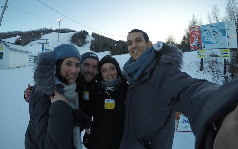 La gang fait du ski !