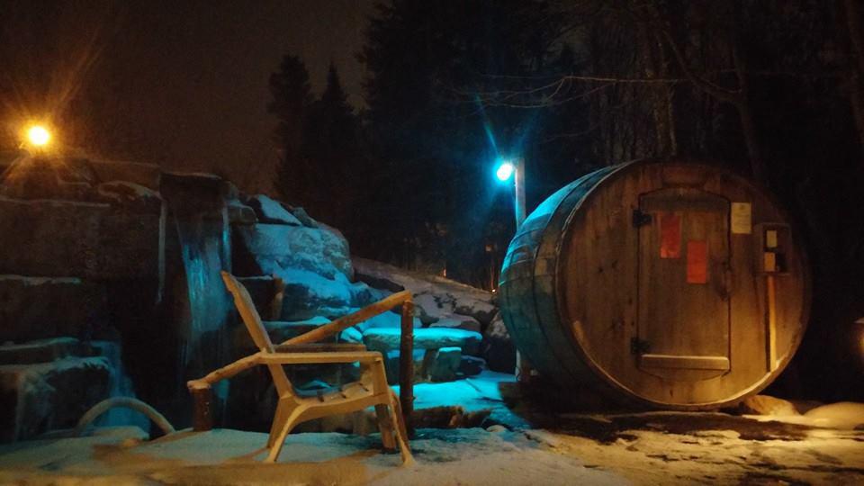 Notre sauna !