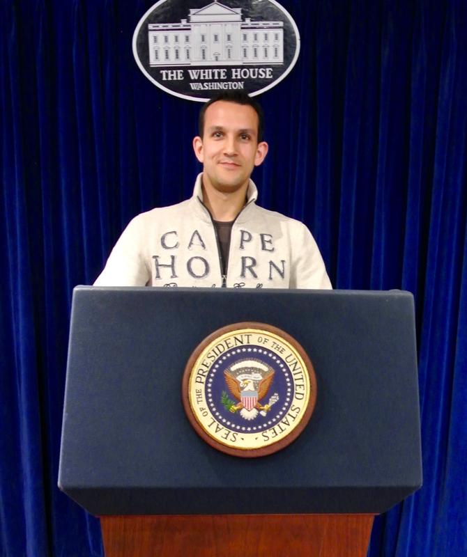 Première déclaration à la Maison Blanche